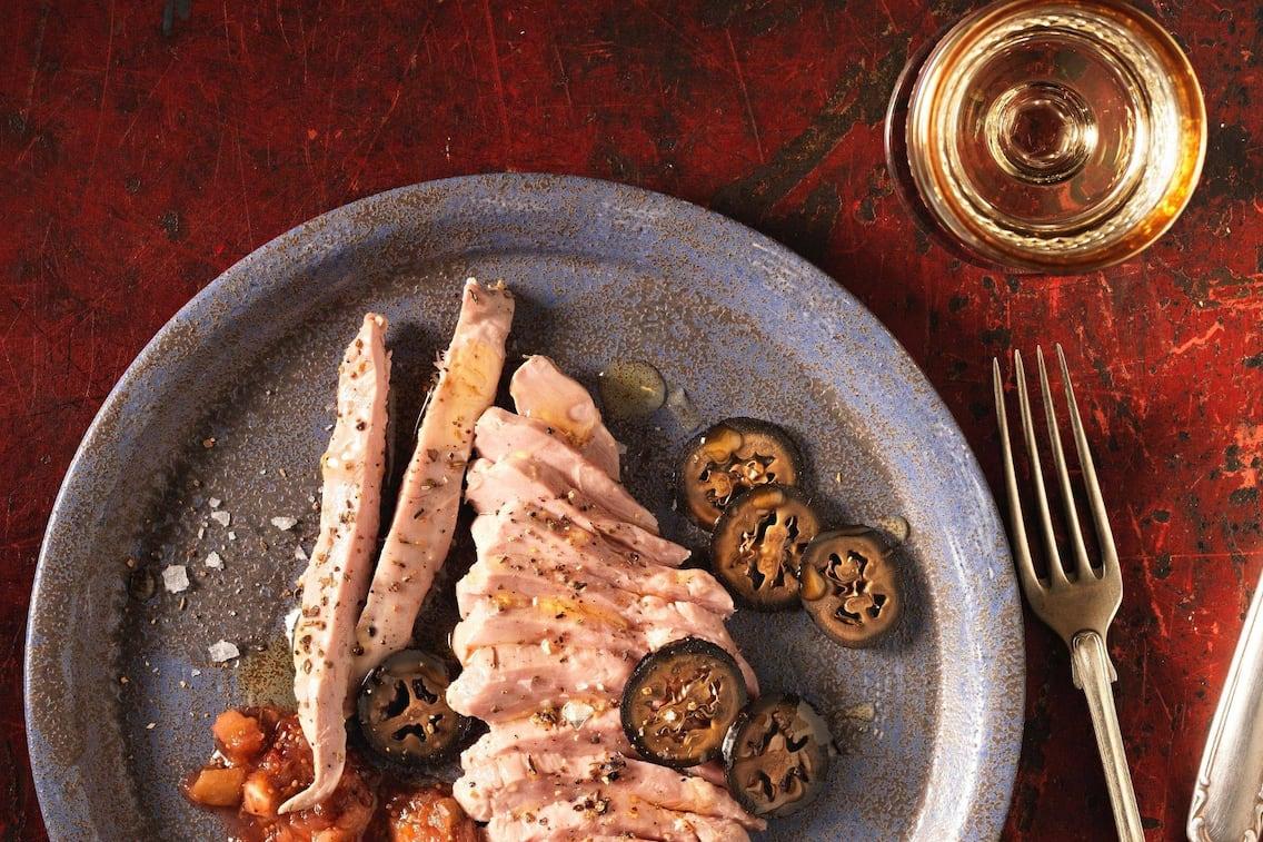 Fasanenbrust, schwarze Nüsse, Feigen, Weißwein, Hauptspeise, Servus Rezept
