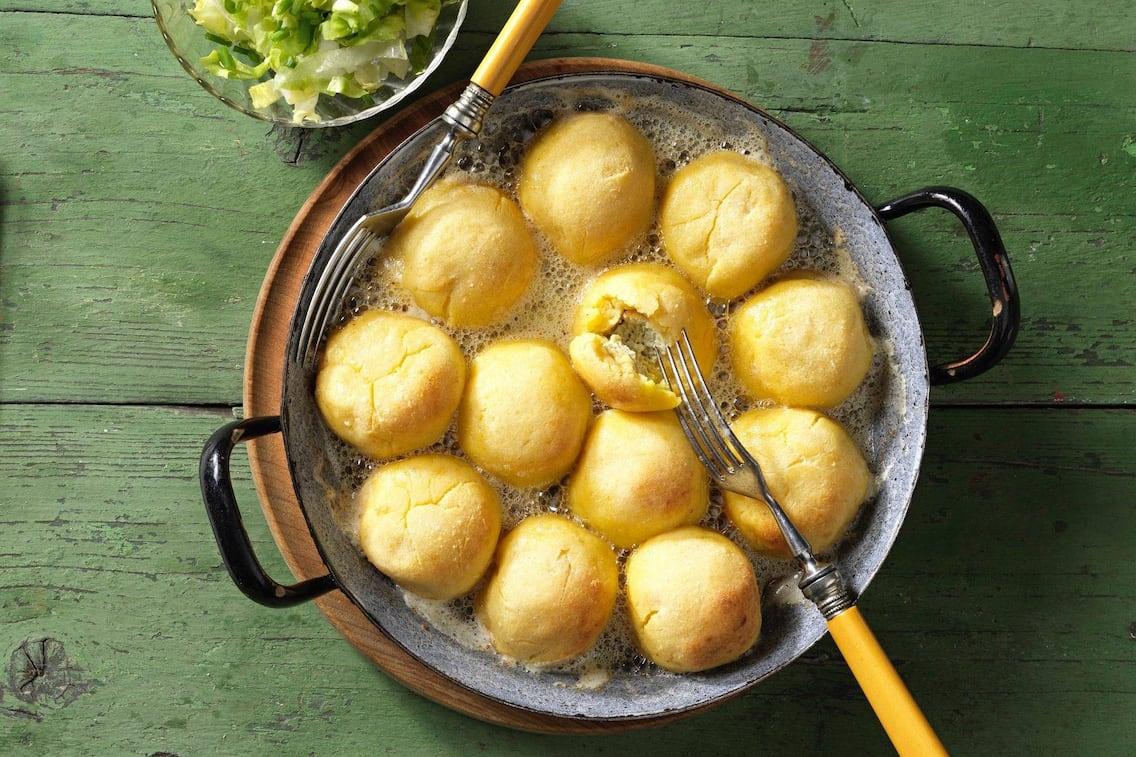 Salat, Knödel, Rein, Hauptspeise, vegetarisch, Servus Rezept
