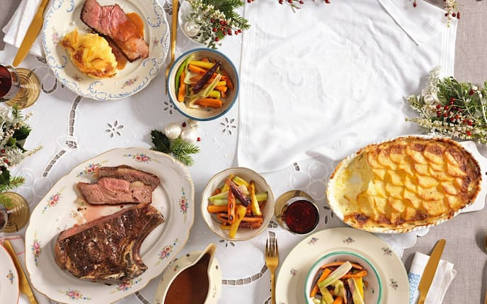 Rinderbraten, Braten, Kartoffelgratin, Erdäpfelgratin, Gemüse, Saft, Rotwein, Hauptspeise, Servus Rezept