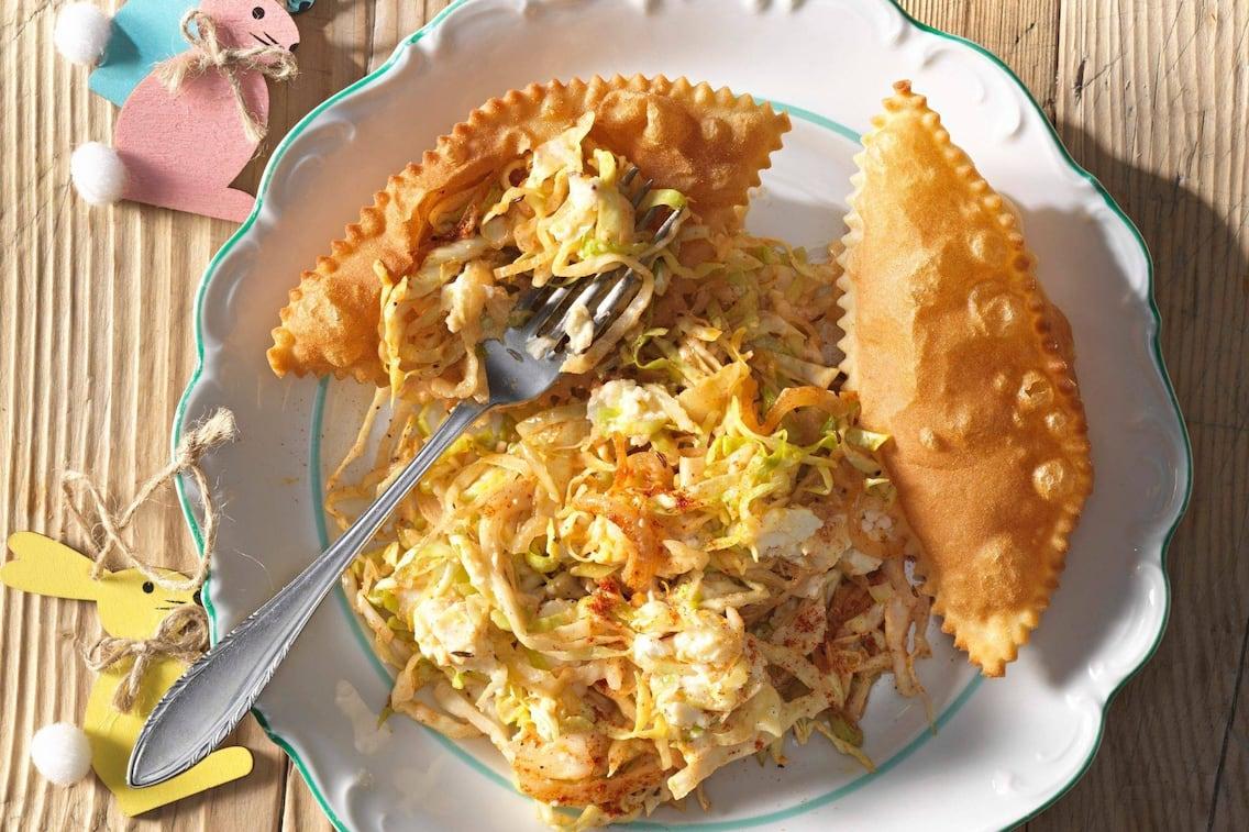 Frittierte Teigtaschen, Kraut, vegetarisch, Hauptspeise, Servus Rezept
