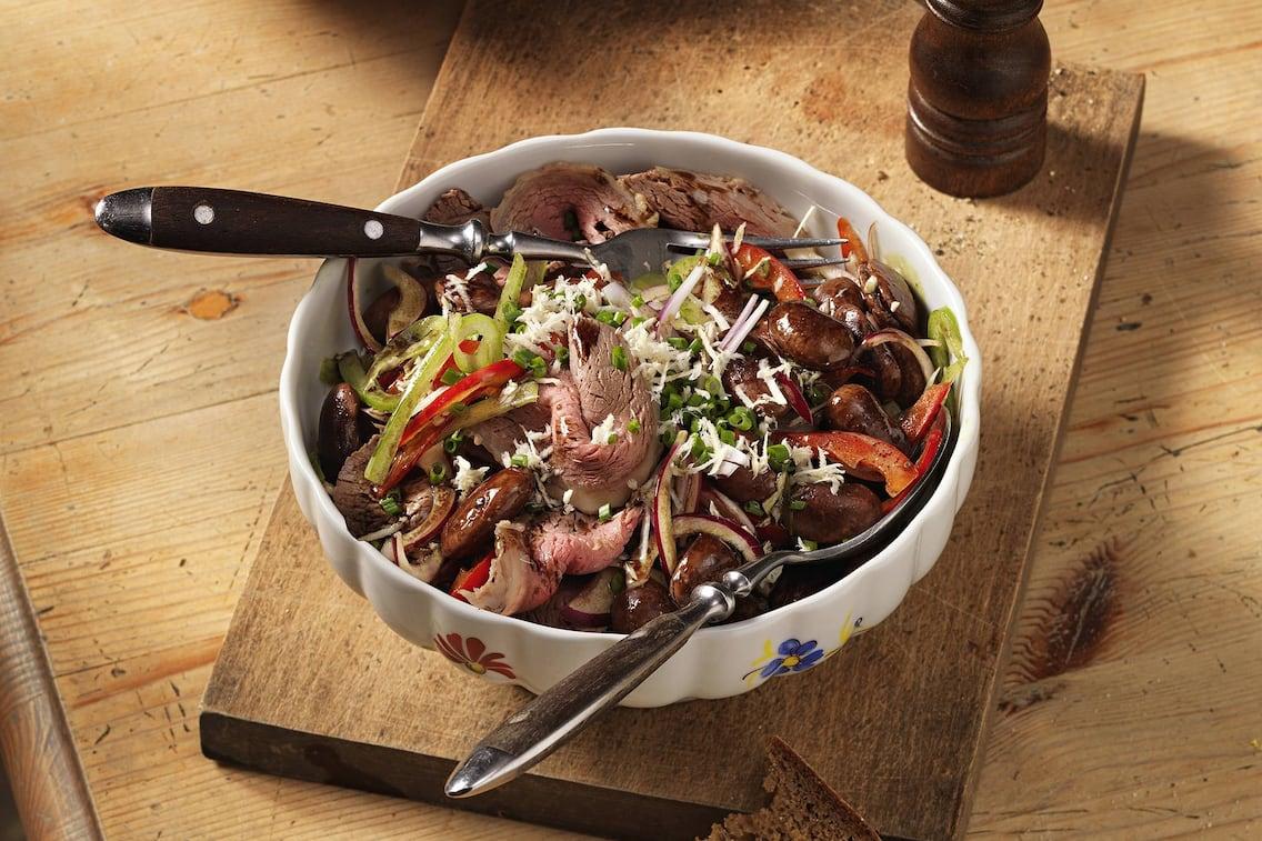 Käferbohnensalat mit Tafelspitz (Bild: Eisenhut & Mayer)