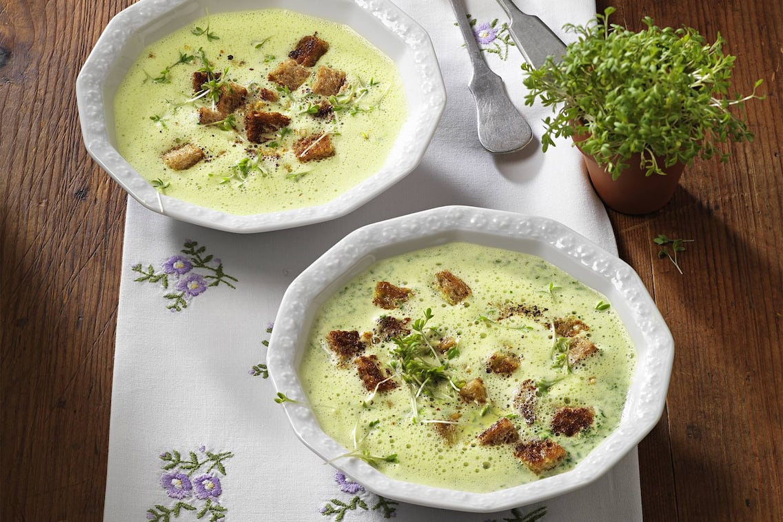 Kresse, Rahmsuppe, Cremesuppe, Suppe, Vorspeise, Servus Rezept