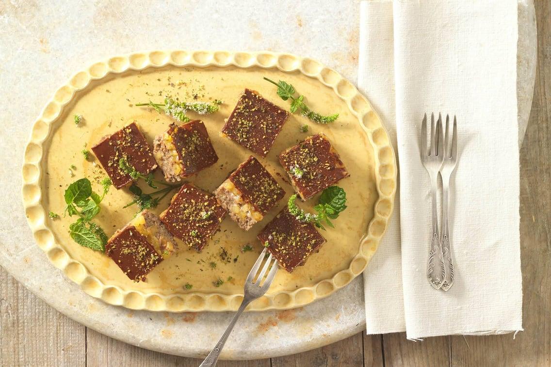 Kürbisschnitte mit Schokolade und Kürbismarmelade (Foto: Eisenhut & Mayer)