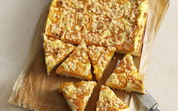 Marillenkuchen, Streuselkuchen, Blechkuchen, Rezept