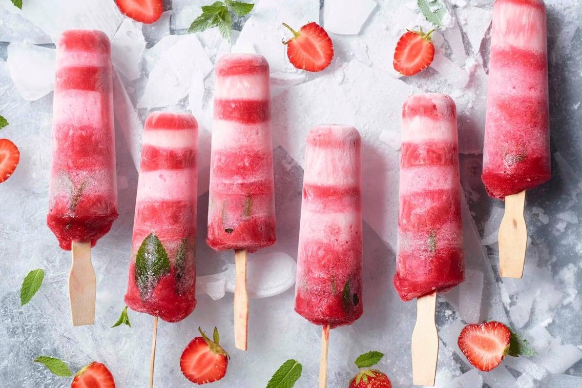 Eis, Beere, Erdbeere, Beereneis, Minze, Minzeis