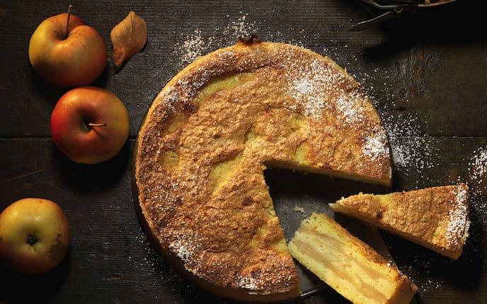 Polenta-Apfelkuchen, Rezept