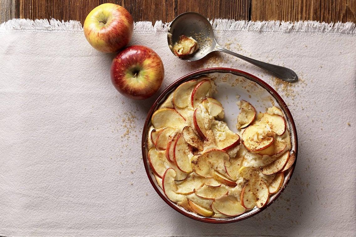 Puessl, Südtiroler Rezept, Apfelschmarren, Apfel-Schmarren, Schmarren mit Äpfel, Schmarren, süße Hauptspeise, Servus-Rezept