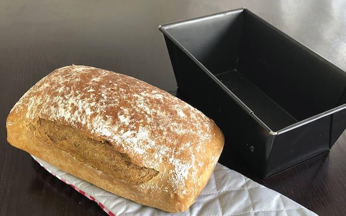 Brot, backen, Roggenbrot, Kastenform