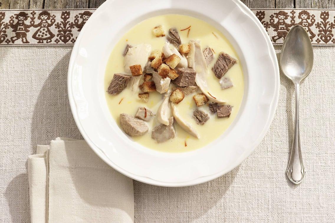 Rosentaler Kirchtagssuppe, Rezept, Suppe, Croutons