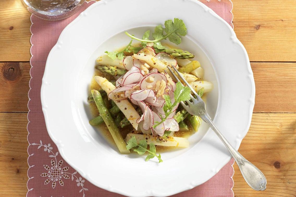 Spargel, Salat, Radieschen, Rezept, Orangen, Marinade