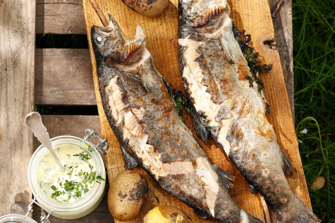 Steckerlfisch, Stockfisch, Rezept, Sauce