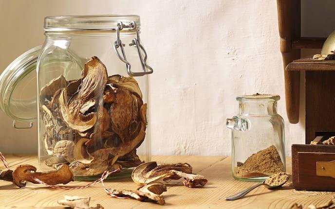 Steinpilze richtig trocknen, Pilze trocknen, Schwammerl, Vorratsglas