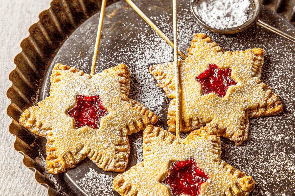 Sterntaler Kekse am Stiel, Christina Bauer, Weihnachtskekse, Plätzchen, Rezept