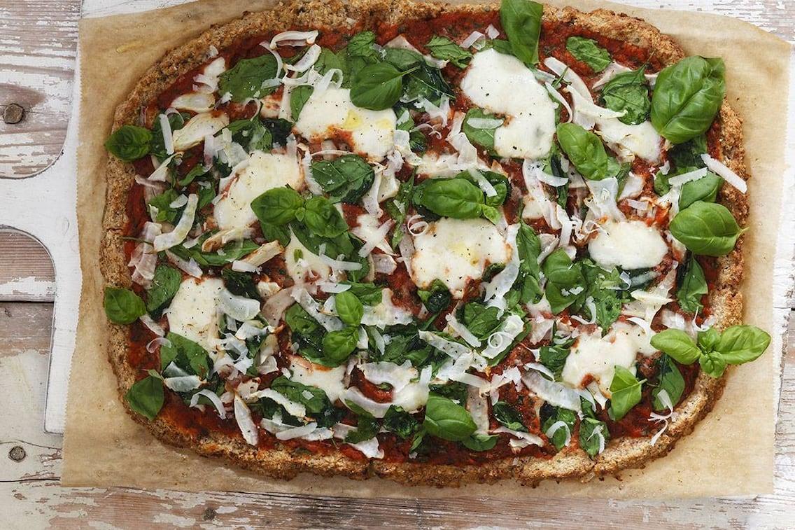 Eine Pizza für gesundheitsbewusste Genießer.