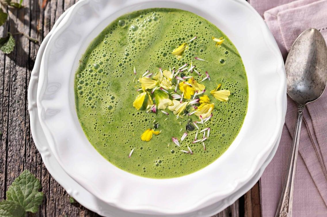Suppe, Kräutersuppe, Blumen, Servus Rezept